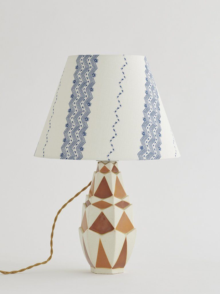 Faience Table Lamp In 2020 Table Lamp Art Deco Deco