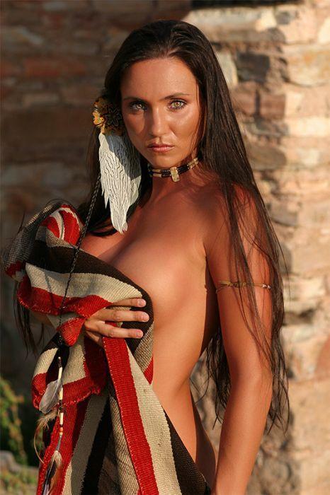 Hot sexy native american woman