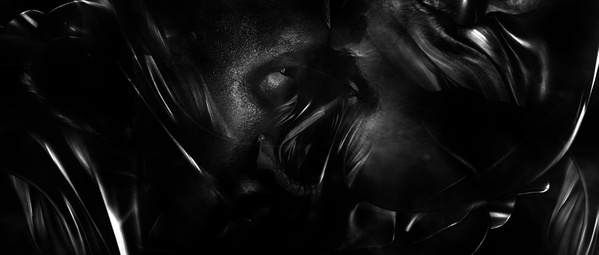 Screenshot from the opening credits of The Girl With a Dragon Tattoo.  Haunting. Incredible. Dark.