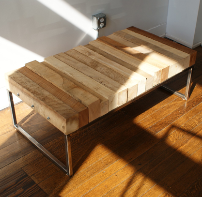 Beautiful 4x4 Industrial Steel Coffee Table, Play Haus Design, Cleveland