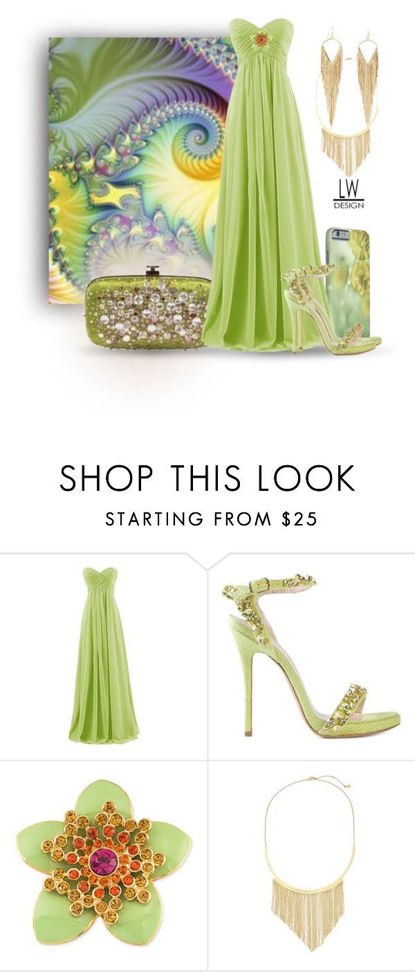 """""""Fantasy in Green"""" by kashmier ❤ liked on Polyvore featuring Ermanno Scervino, Carolee, Gorjana, Jules Smith, polyfriends, zazzle and leatherwooddesign"""