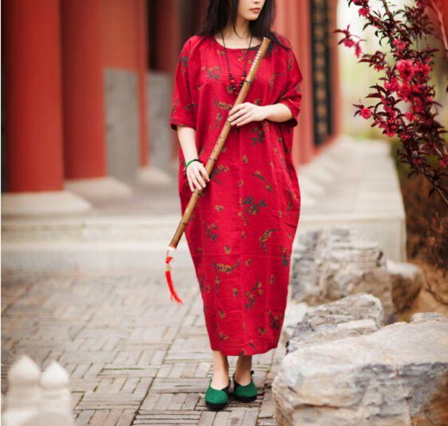 Kleider - Plus Size Damen Maxi Dress - ein Designerstück von ...