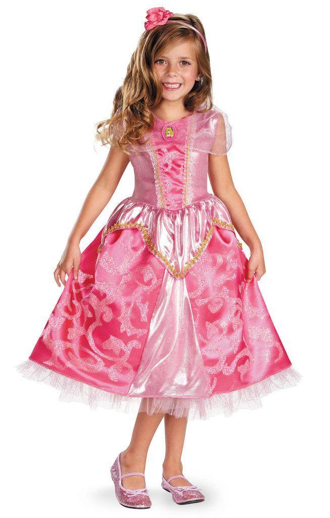 Disney Aurora Deluxe Sparkle Toddler/Child Costume Children - princess halloween costume ideas