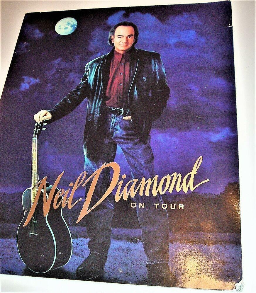 Neil Diamond Tour Program And Ticket Stub 1996 Mgm Grand Garden Arena Mgm Grand Garden Arena Diamond Tours Neil Diamond