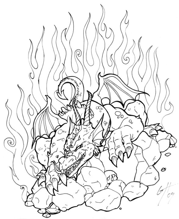 Dragon Tattoo Flash by TheMacRat @ deviantART | ✐Adult Colouring ...