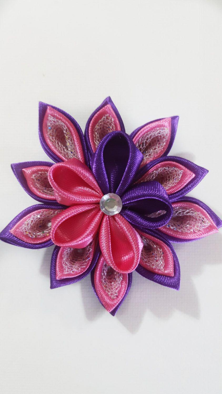Hair clip kanzashi flower hair clip flower hair clip girls hair clip kanzashi flower pink flower hair clip pink hair clip pink flower clip mightylinksfo
