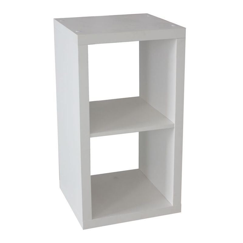 clever cube 1 x 2 white storage unit bunnings. Black Bedroom Furniture Sets. Home Design Ideas