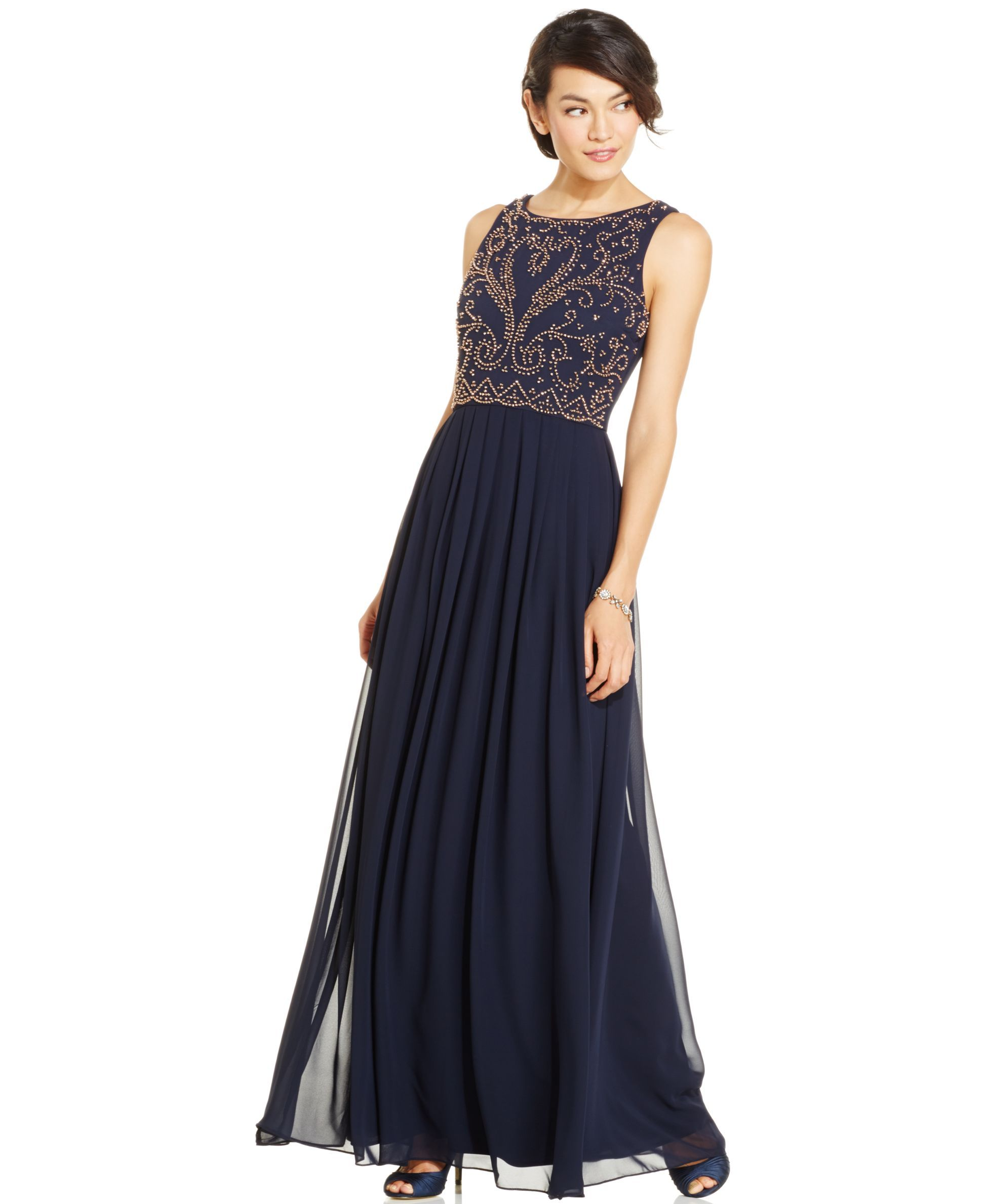 Xscape Embellished Chiffon Evening Gown | Products | Pinterest ...