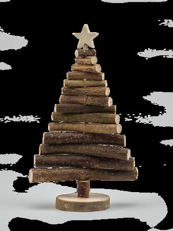 Weihnachtsbaum aus Laubholz mit Rinde