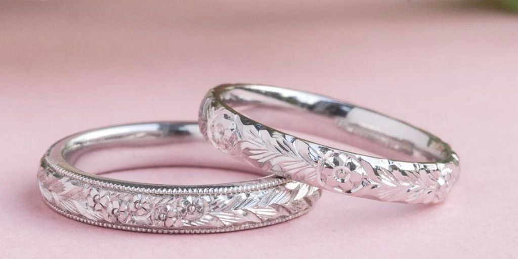 A Symbol Of True Love These Hand Engraved Wedding Bands Feature A