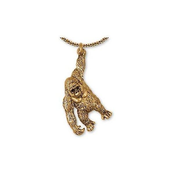 Gorilla pendant and gorilla jewelry and charms in silver and gold gorilla pendant and gorilla jewelry and charms in silver and gold liked on polyvore featuring aloadofball Image collections