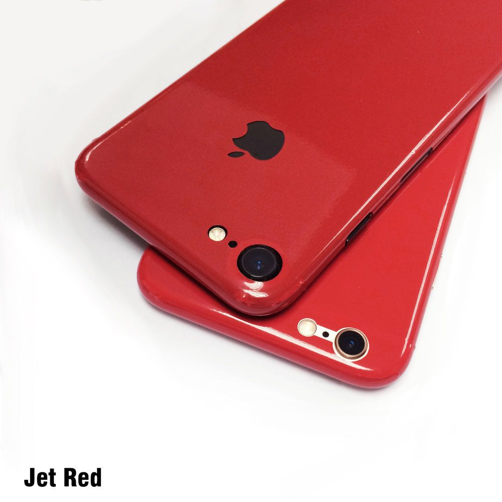 Jet Red Effect Body Skin Sticker Wrap Decal Product For Iphone 7 2in1 Squishy Case Mirror Metal Bumper Hard Oppo F1s 6 6s Plus Cell Phones Accessories Phone Cases Covers Skins
