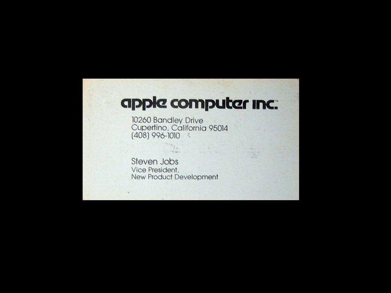 Latarjeta de Steve Jobs