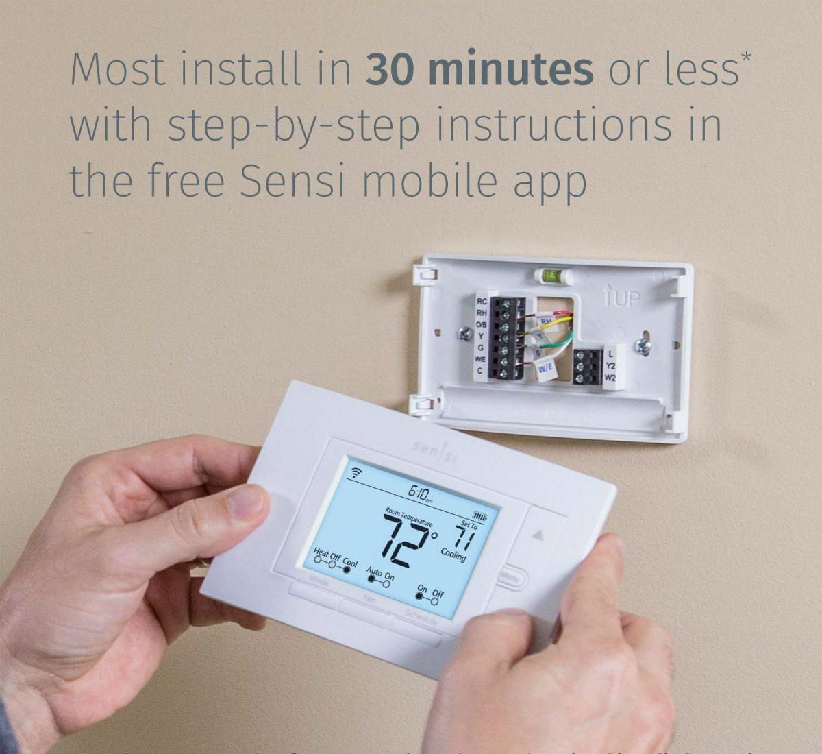 Best Smart Thermostat Options For The Home Sensi Cagey Smart Thermostats Thermostat Wink Smart Home
