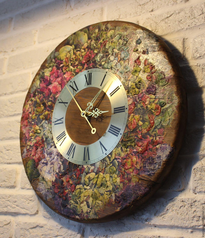 Декупаж часов настенных фото на кухню