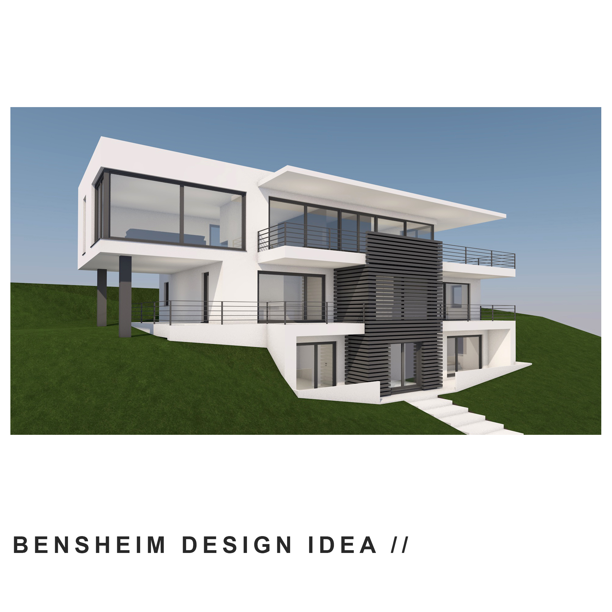 Design idea for the construction of an exclusive residential house ...