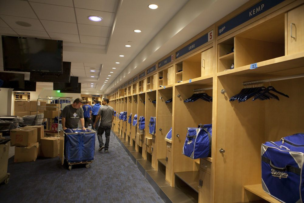 Come Tour Dodger Stadium S 100 Million Makeover Dodgers Dodger Stadium Locker Room