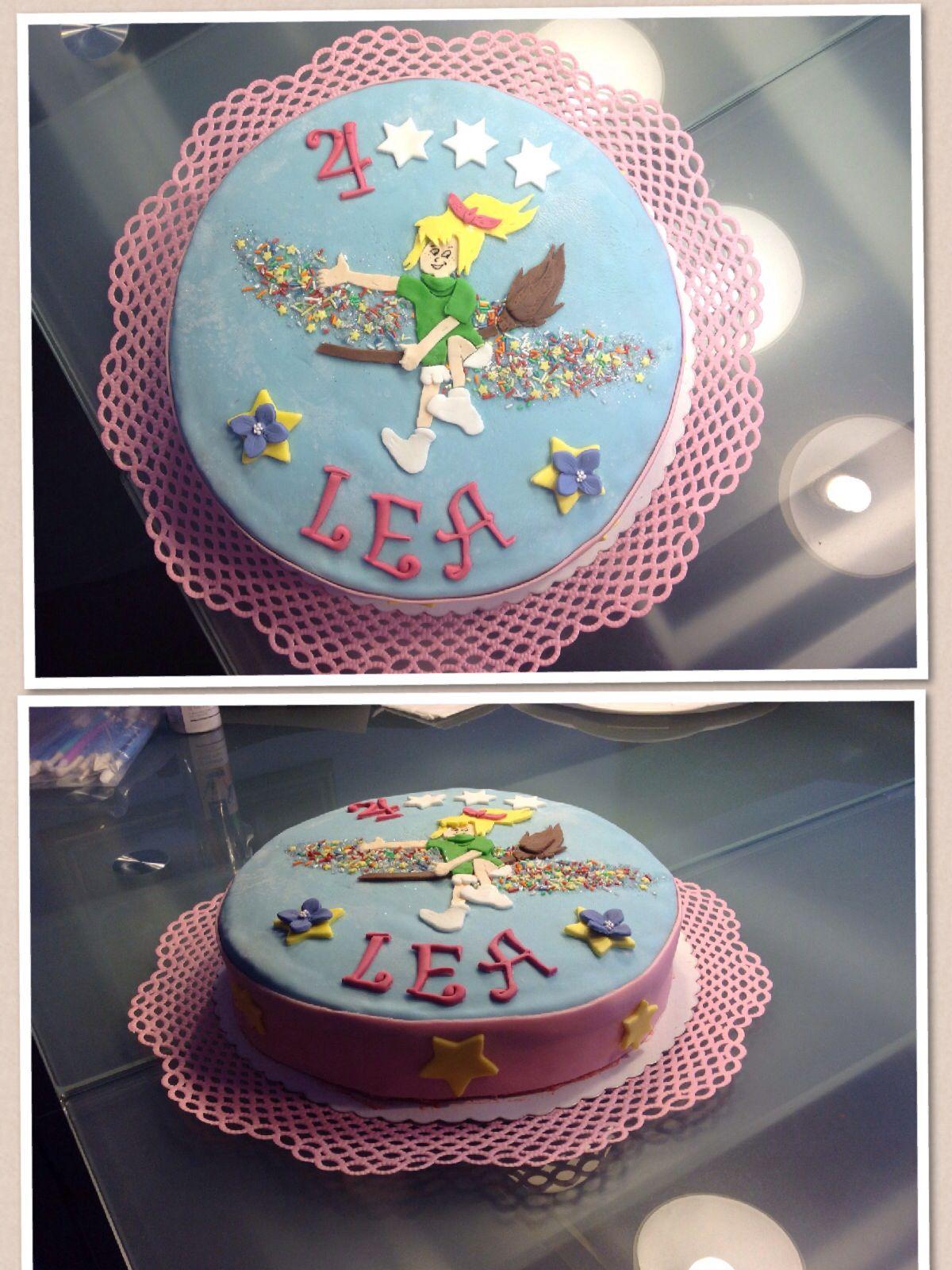 Bibi Blocksberg Torte Vanille Biskuit Mit Einer Erdbeer Buttercreme Geburtstagstorte Bibi Blocksberg Torte Kindertorte