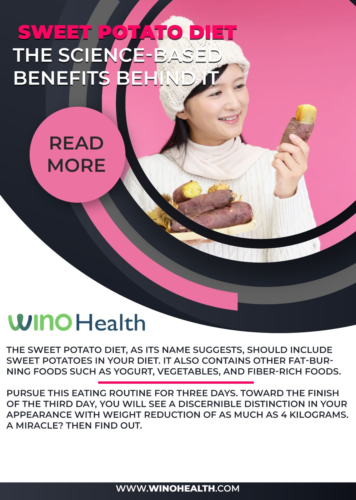 Sweet Potato Diet: The Science-Based Benefits Behind it Sweet potato Diet are one of the most nutritious and heavenly root crops. A healthy alternative to potatoes and sweet potatoes is not scientifically acceptable. What the barn does.   Diet?   Keep reading to find out.