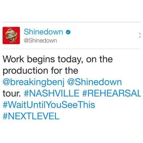 Via @Shinedown: Work begins today on the production for the...