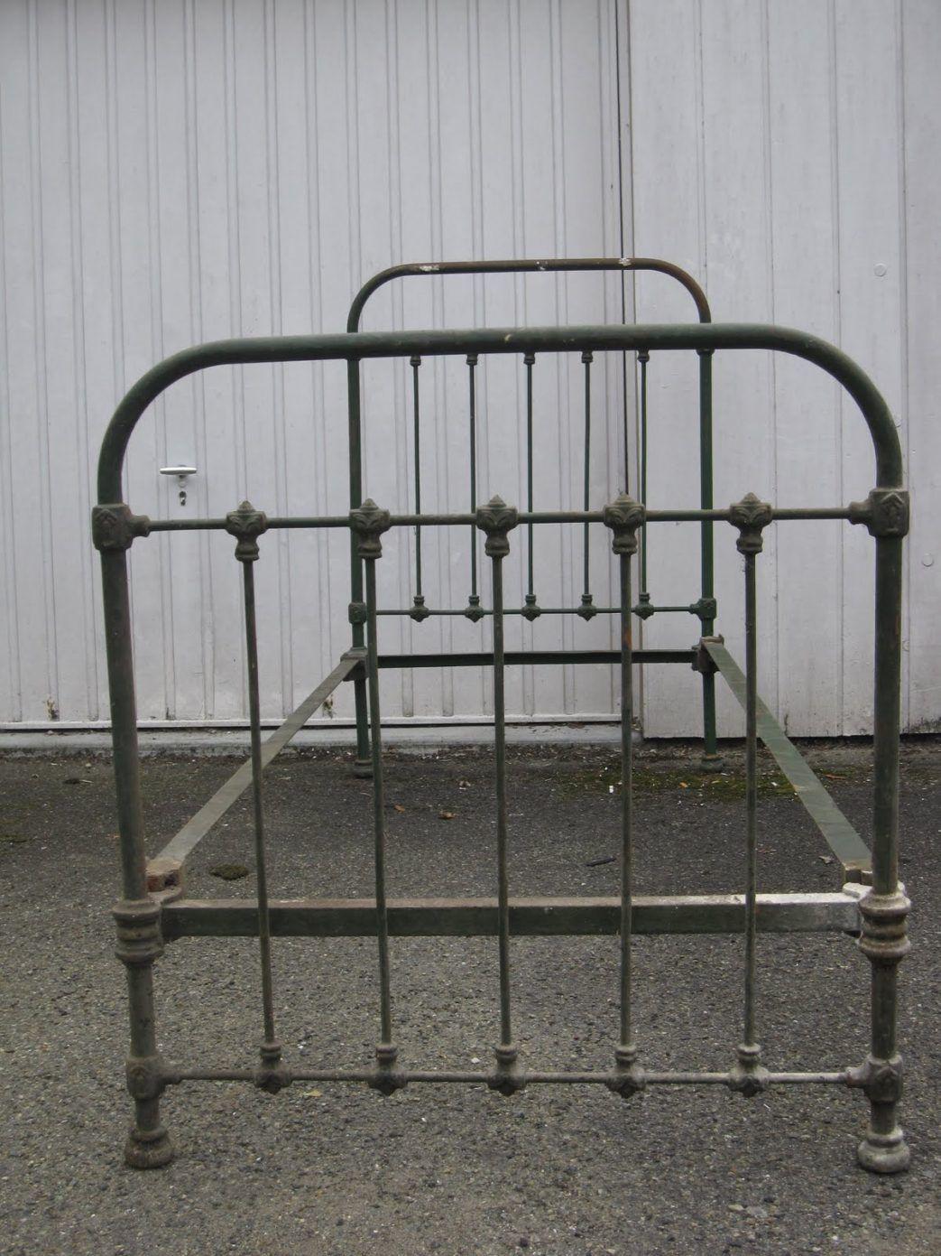 tete de lit en fer forge ancien lit