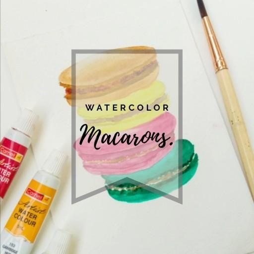 Th#watercolovideo #watercolorprocess #processvideo #watercolorillustration #macarons #watercolors # watercolorillustration #artvideo #art