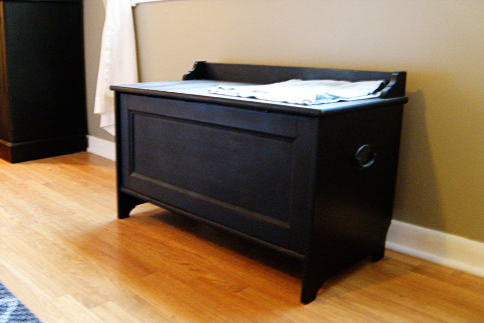 Diy Cat Litter Box Furniture Black Wooden Materials Diy Cat Litter