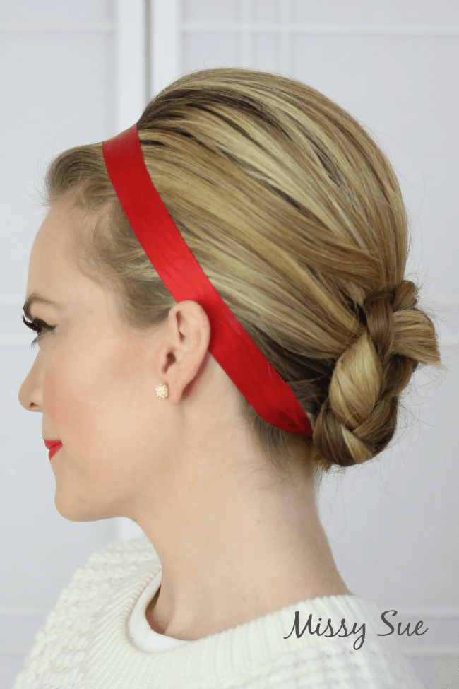 Braid 10 Ribbon Wrapped Braided Bun
