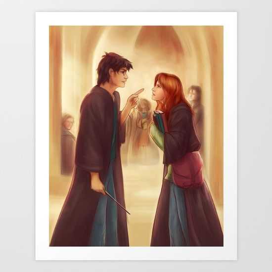 I D Just As Soon Kiss The Giant Squid Art Print Harry Potter Ginny Lily Potter Harry Potter Universal