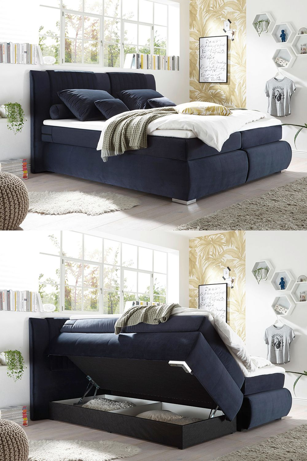 Boxspring Krevet In 2020 Home Decor Sectional Couch Chaise Lounge