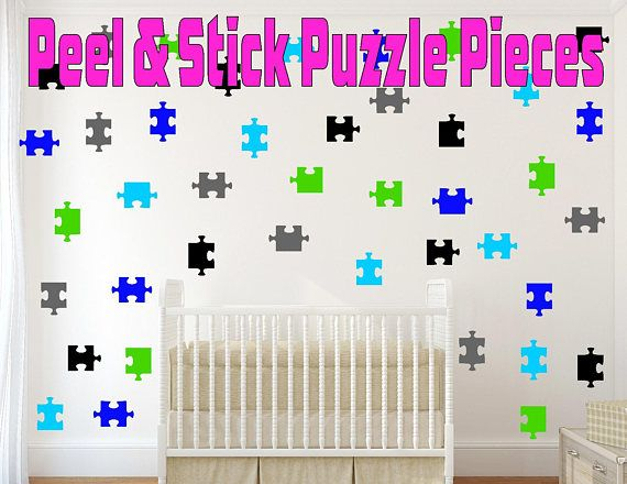 Peel And Stick Puzzle Pieces Wall Decals For Kids Rooms Nursery