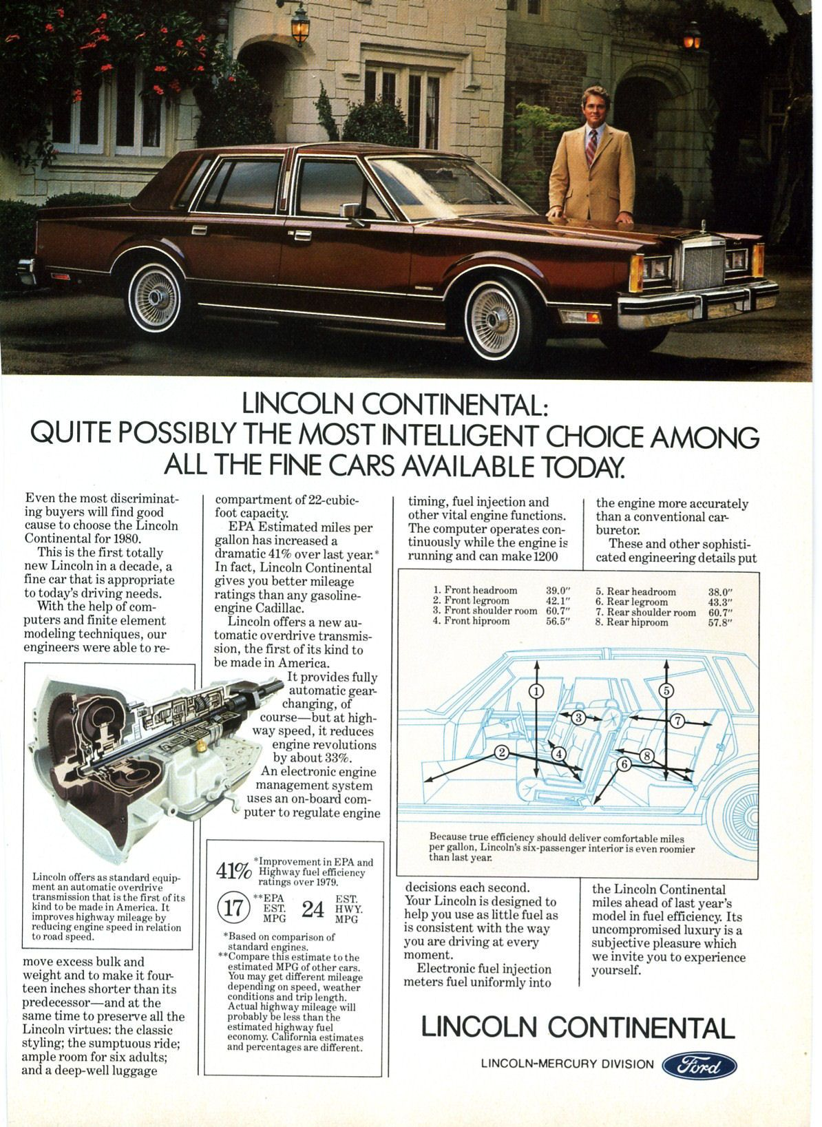 1980 Lincoln Continental Four Door Sedan Automobile
