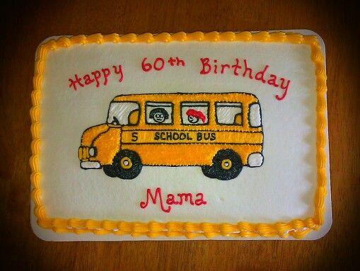 School Bus Cake With Images School Bus Cake Bus Cake