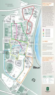Walking Map Of Campus Get Your 10 000 Steps A Day In At Sac State