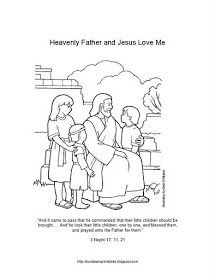 Sunbeam Printables: Coloring Page for Lesson 6: Heavenly