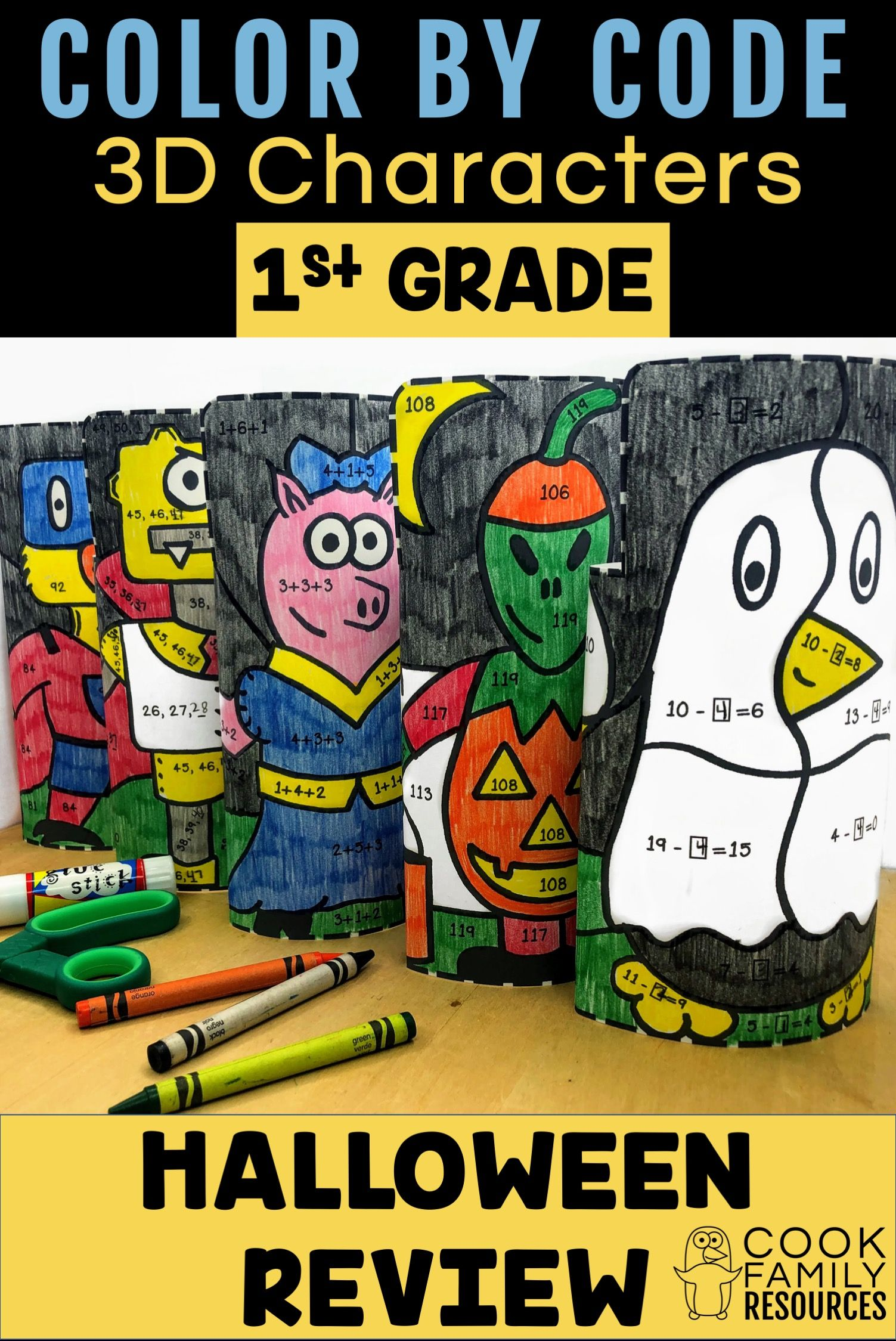 Your 1st Grade Students Will Love Seeing These Color By