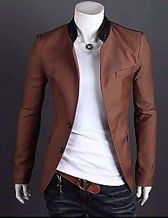 lo último moda mejor valorada diversificado en envases Me agrada el saco sin solapa y cuello sport | Pantalon ...