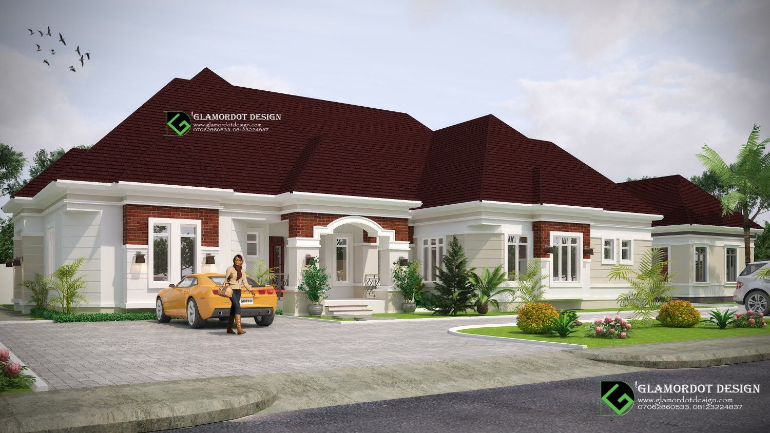 Architectural design of a proposed 4 bedroom bungalow with ...