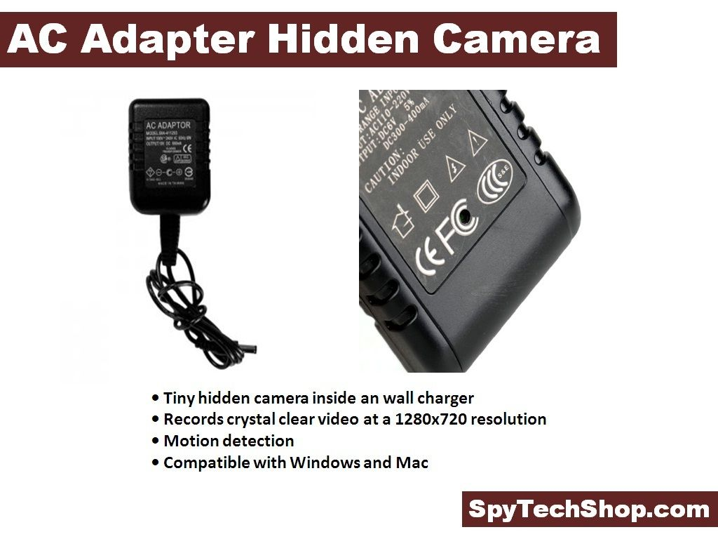 Spy on like a professional using AC adapter hidden camera