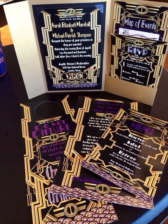 Laser Cut Halloween Wedding Invitations