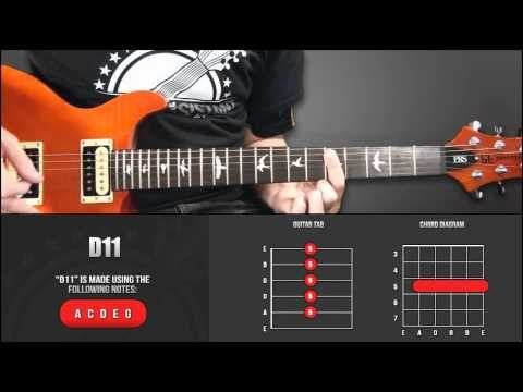 Guitar Chord Library D Chords D11 Youtube Guitar Chords D