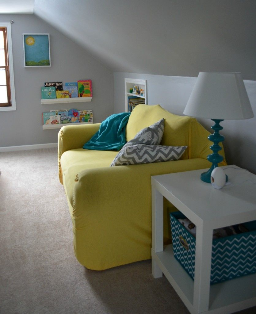Baby Boy S Yellow Grey And Teal Attic Nursery Baby Boy