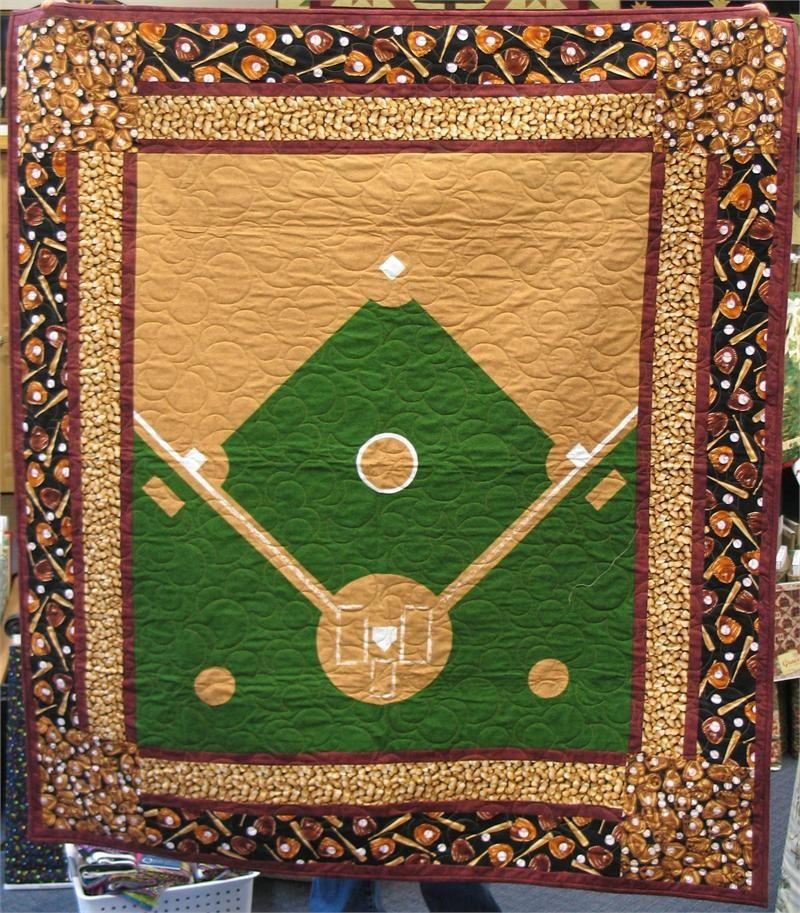 Baseball quilt | Sports quilts | Pinterest | Baseball quilt, Craft ... : baseball quilt fabric - Adamdwight.com