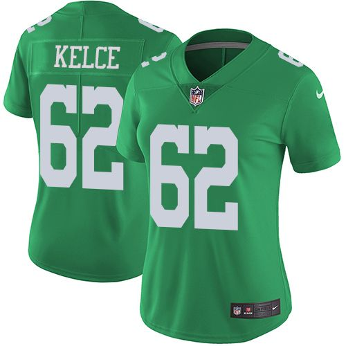 91156642191 release date nike eagles 62 jason kelce green womens stitched nfl limited  rush jersey and falcons