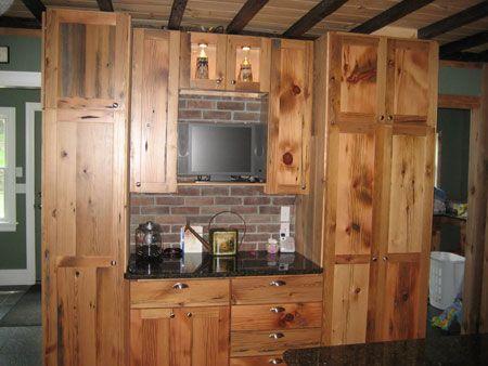Barnwood Kitchen Cabinets Benedict Antique Lumber And Stone Barn Wood Corner House Cabinet