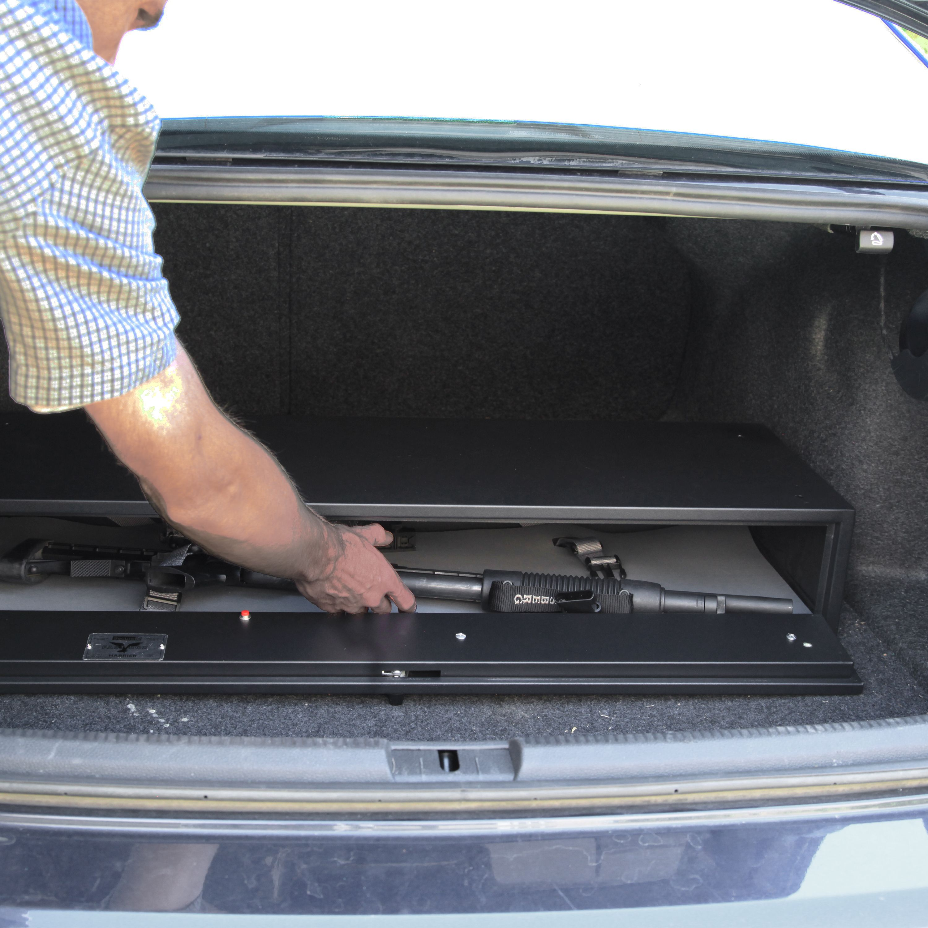 the fast box hidden gun safe model 40 can be mounted under a bed or in the truck of a vehicle rv and even a boat to secure a firearm up to