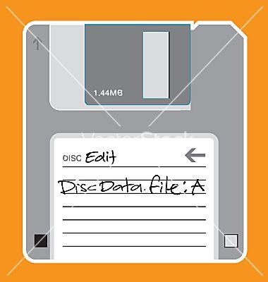 Floppy Disc Illustration Vector Image On Vectorstock Floppy Disk Vector Free Floppy