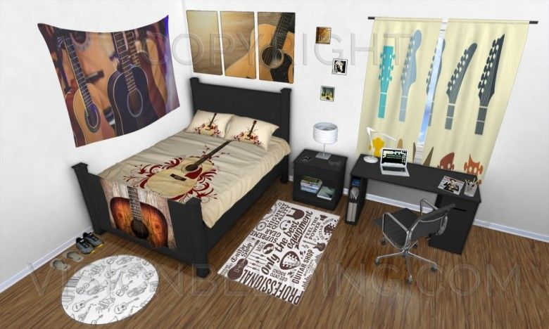 Acoustic Guitar Music Themed Bedroom Guitarbedroomdecorideas Guitarbeddingideas Guitarbeddingsets Guitarcomforters Guitarduvetcovers