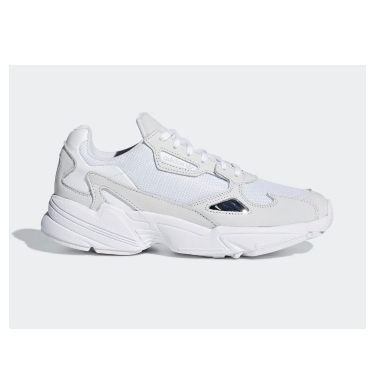 low priced ad490 b3021 adidas white falcon trainers