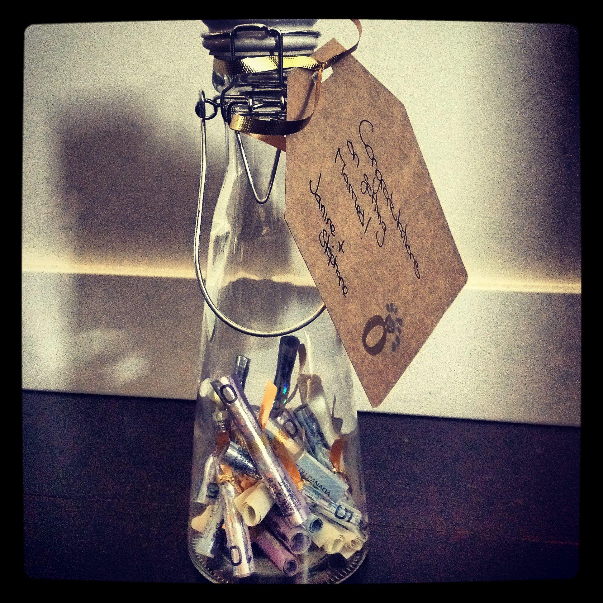 Best Wedding Gifts: Wedding Gift Idea: Put Rolled Up Best Wishes (& Money